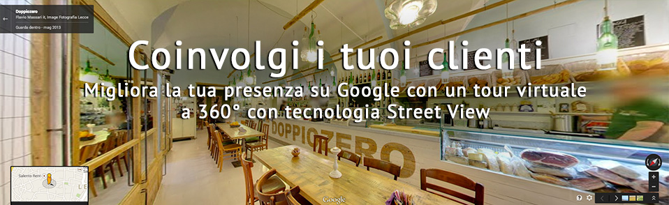 Realizzazione Virtual Tour a Lecce con Google Business View